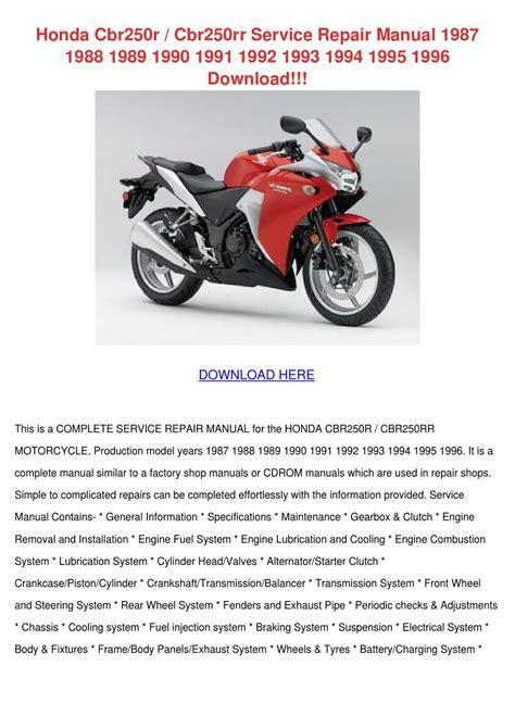 Honda Cbr250r Manual