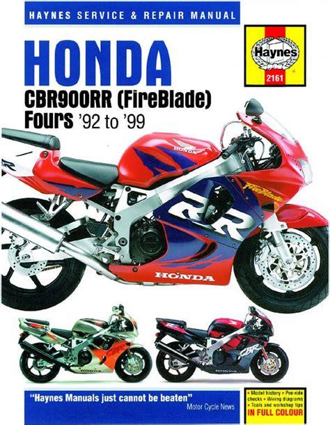 Honda Cbr900rr Fireblade 1992 1999 Manual