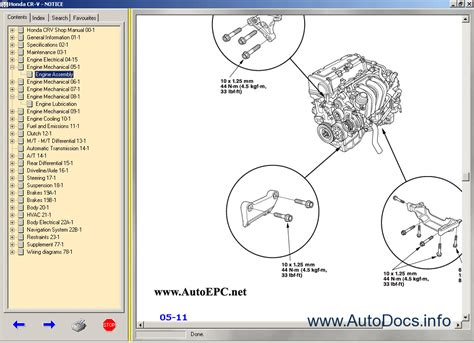 Honda Cr V 2006 Body Repair Manual