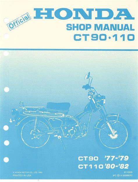 Honda Ct110 1980 1982 Factory Service Workshop Manual