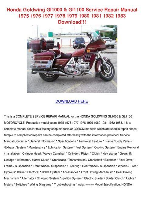Honda Cx500 1982 Workshop Manual