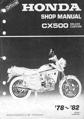 Honda Cx500 Tc Parts Manual Catalog 1982