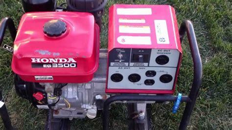 Honda Eg3500 Generator Manual