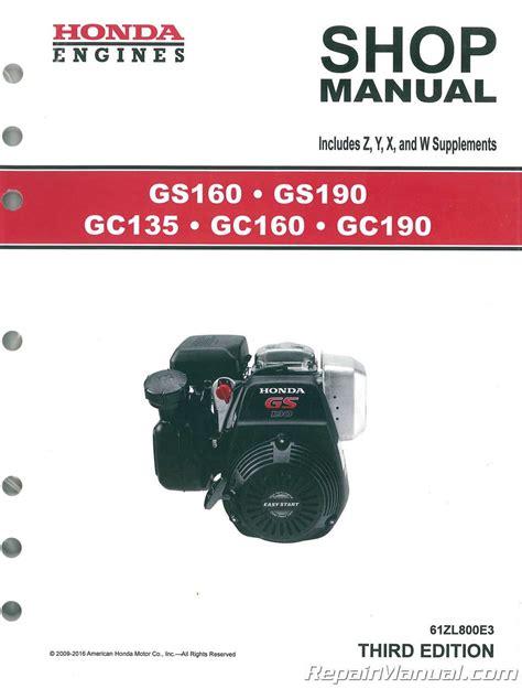 Honda Engine Gc160 Shop Manual
