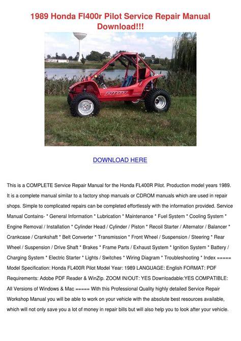 Honda Fl400r Pilot Service Repair Manual 1989