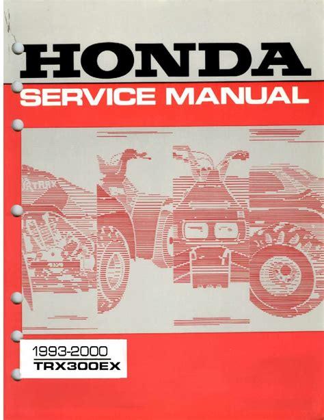 Honda Fourtrax Repair Manual