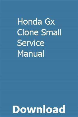 Honda Gx Clone Small Service Manual