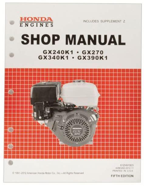 Honda Gx340 Service Manual