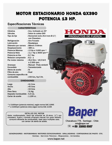 Honda Gx390 Service Repair Manual