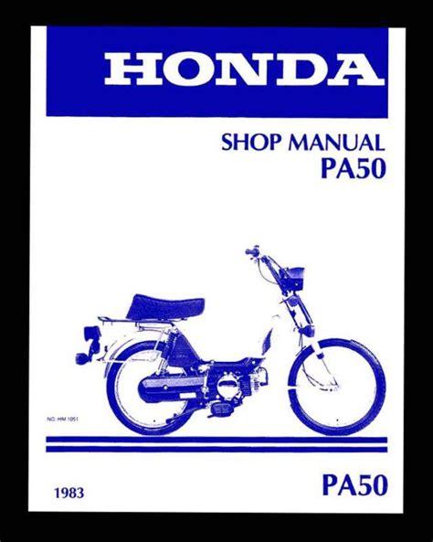 Honda Pa50 Moped Service Repair Workshop Manual 1983