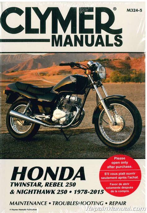 Honda Rebel Manual Repair Service Clymer