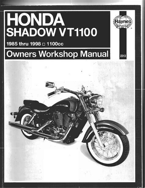Honda Shadow Vt1100 1985 1998 Factory Service Workshop Manual