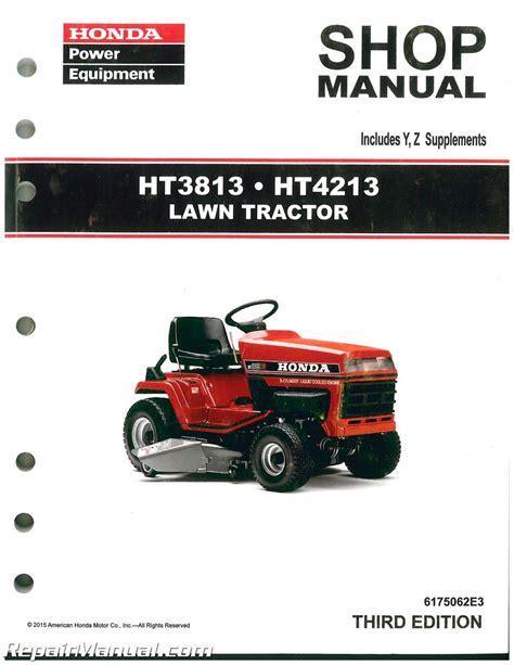 Honda Tractor Manual