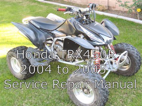 Honda Trx450r Trx 450r Trx 450 R Service Repair Manual