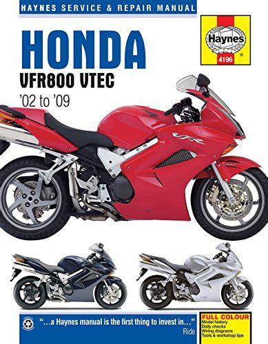 Honda VFR V-Tec V-Fours 2002-2009 (Haynes Service & Repair Manual)