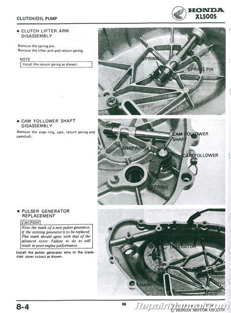 Honda Xl500r Service Manual