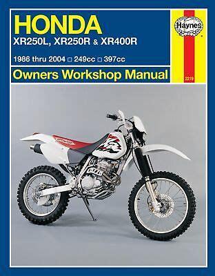 Honda Xr400 Workshop Manual