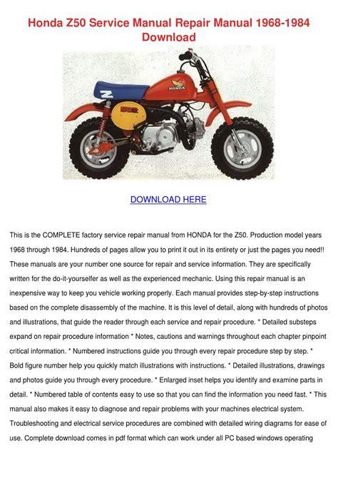 Honda Z50 Shop Manual