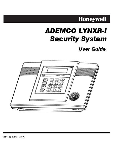 Honeywell Security Lynxr Manual