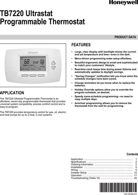 Honeywell Ultrastat Thermostat Manual