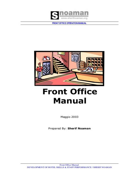 Hotel Front Desk Reference Manual