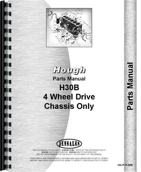 Hough H 30b Pay Loader Parts Manual