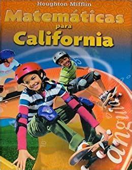 Houghton Mifflin Math Spanish Hmm Spanish Math California 2008