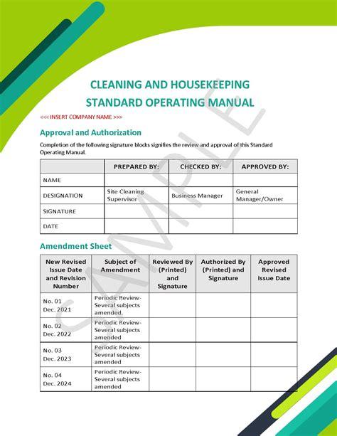 Housekeeping Procedures Manual