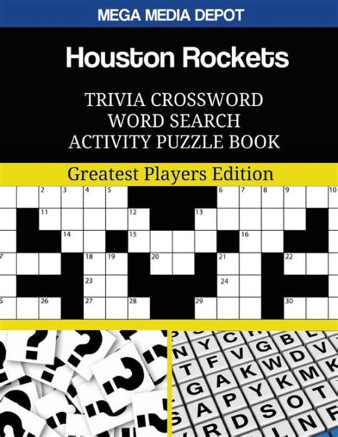 Houston Rockets Trivia Crossword Word Search Activity Puzzle Book Greatest Players Edition
