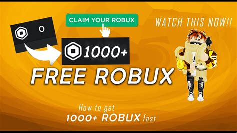 5 Secret Of How To Get 1000 Robux For Free