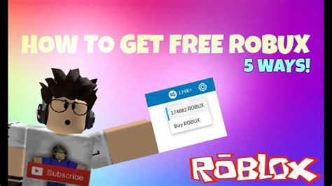 3 Things How To Get A Robux In Roblox For Free