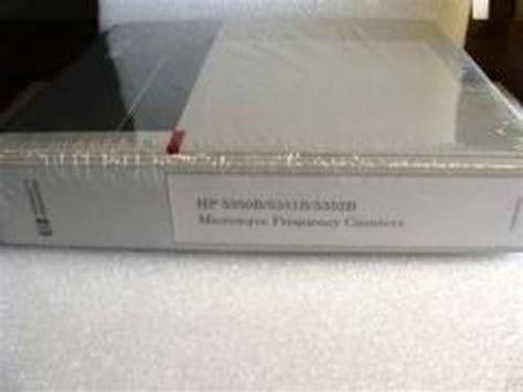 Hp 5350b 5351b 5352b Microwave Counters Service Manual