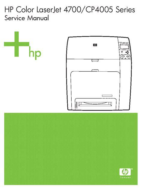 Hp Color Laserjet 4700 Cp4005 Series Service Manual