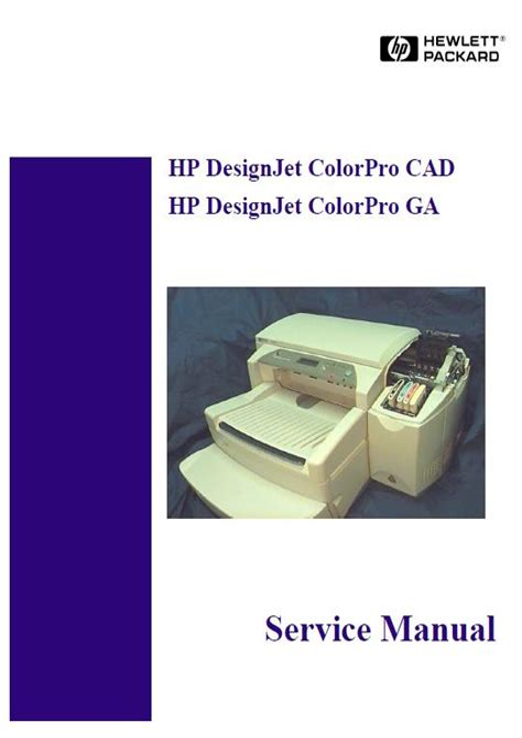 Hp Designjet Colorpro Cad Colorpro Ga Service Manual