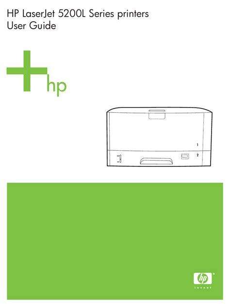 Hp Laserjet 5200 User Manual