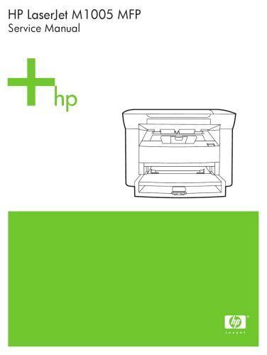 Hp Laserjet M1005 Mfp Service Manual