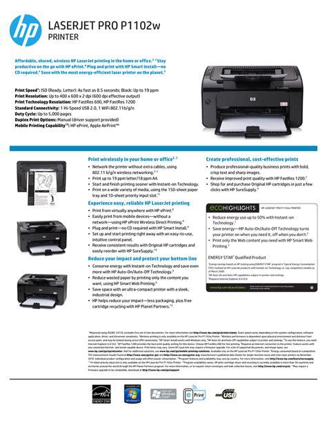 Hp Laserjet Pro P1102w Manual