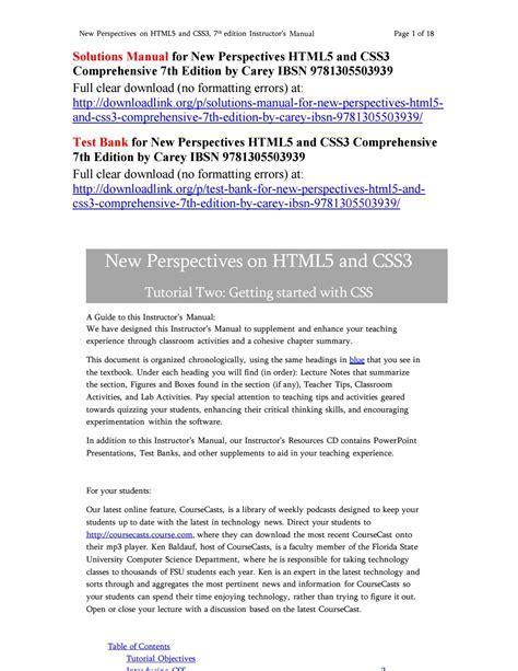 Html5 Solution Manual