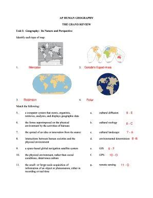 Human Geography Grand Review Guide Answers