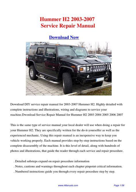 Hummer H2 Manual