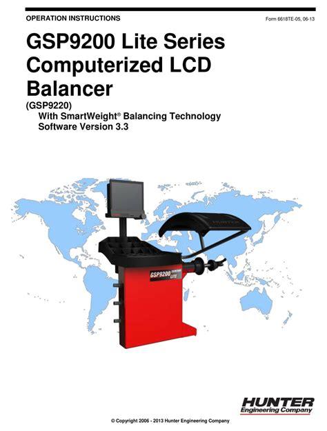 Hunter Gsp9200 Manual