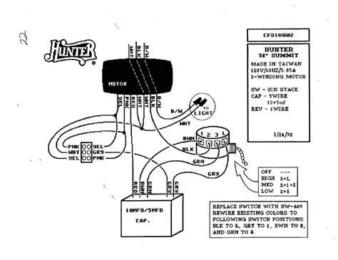 Hunter Remote Ceiling Fan Switch Wiring Diagram