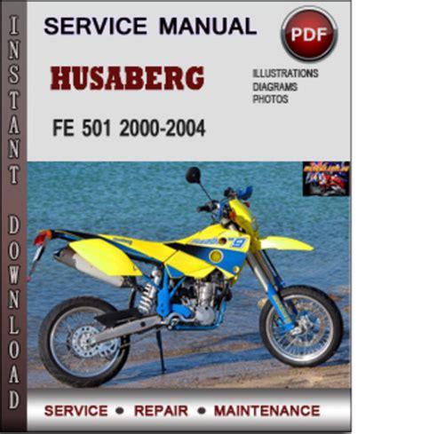 Husaberg Fe 501 2000 2004 Factory Service Repair Manual