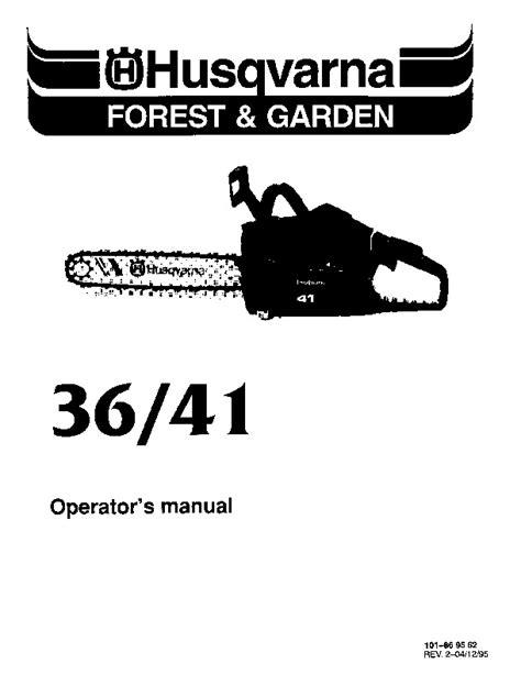 Husqvarna 36 Repair Manual