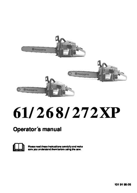 Husqvarna Chainsaw Operators Manual 61 268