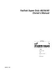 Hustler Fastrak Super Duty Owner Manual