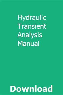 Hydraulic Transient Analysis Manual