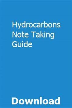 Hydrocarbons Note Taking Guide