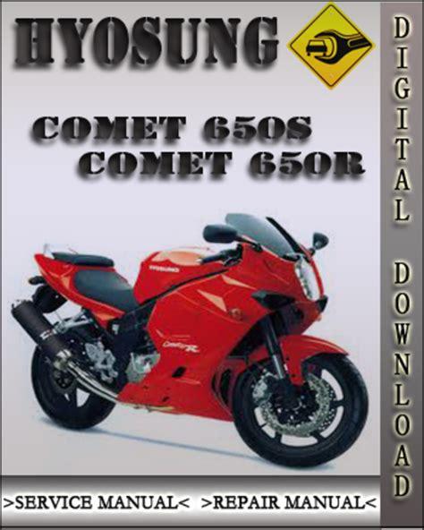 Hyosung Comet 650s Comet 650r Service Repair Manual