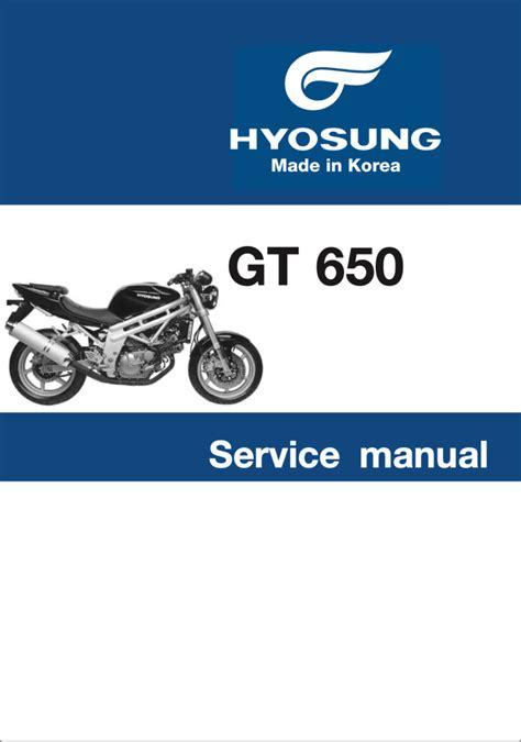 Hyosung Gt650 Factory Service Repair Manual